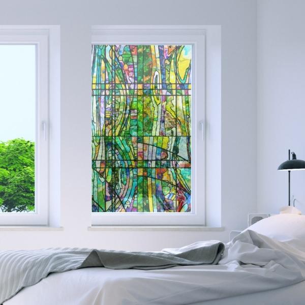 무점착 창문용필름 깔끔시공 스테인글라스 WFM00189