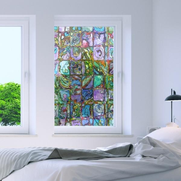 무점착 간편시공 창문필름 스테인글라스 WFM00175