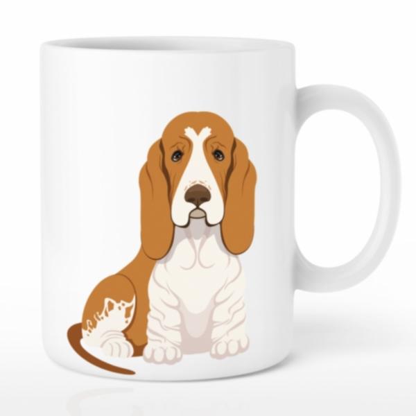 강아지 머그컵 나만의 포토머그컵 선물 바셋하운드
