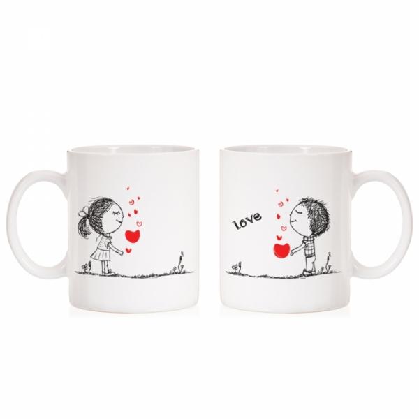 커플머그컵 2개 세트 웨딩 여자친구 선물