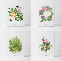 북유럽 인테리어 식물 트로피칼 액자 캔버스 4종