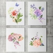 인테리어 캔버스 액자 포스터 부케 Bouquet