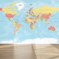 벽지세계지도 포인트벽지 맞춤제작 월드맵