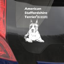 자동차 창문 스티커 아메리칸 스태퍼드셔 테리어