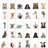 아이방 인테리어 동물 포스터 방수포스터 78종