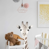 대형 패브릭 동물스티커 기린 아이방 어린이집 벽