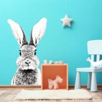 인테리어 유치원 패브릭 포인트 대형 동물스티커 토끼