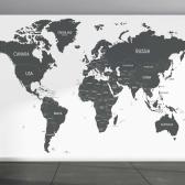 프리미엄벽지 뮤럴벽지 세계지도 맞춤제작 월드맵
