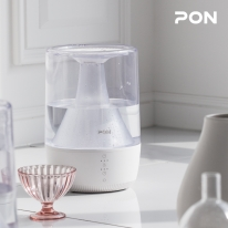 [PON] 폭포수 초음파식 무드등 가습기 PH-3000 / 손쉬운 물 보충 / 3단계 LED램프 무드등