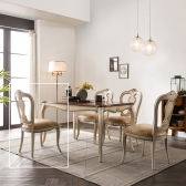(퍼니프랑) 수입 엔틱가구 RG 22 프리미엄 아이보리 식탁 의자