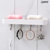 OMT 욕실 비누받침대 수납 선반 4구 후크걸이 OB-YW27