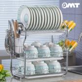 OMT 3단 스텐레스 주방 컵걸이 식기건조대 OKA-2541