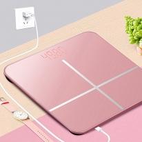 USB충전 스마트 디지털 가정용 전자체중계 LOT 체중계-핑크
