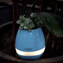 식물 꽃 스피커 미니화분 화분블루투스스피커-블루