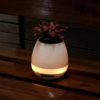 식물 꽃 스피커 미니화분 화분블루투스스피커-화이트