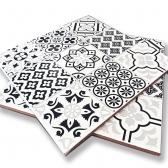 코토타일 블랙 패턴 바닥타일