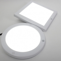LED 센서등 무타공 엣지 원형 사각 센서 8인치 20W HS