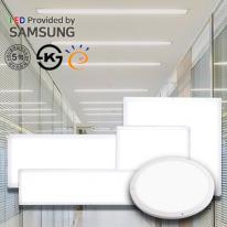 LED 무타공 초슬림 엣지 평판등 면조명 사무실등 거실등 가정용 직부등