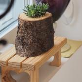 [모포스틀루] 나무결 그대로 원목하트선반 / 화분받침대 / 화분정리대