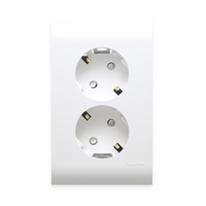 오딧세이 2구 접지콘센트 세로형 전등 전기 콘센트