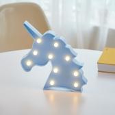 LED 유니콘 블루 무드등 인테리어 조명