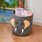 코끼리 동물 다용도 페브릭 바스켓