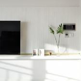 백색 템바보드 1200mm X 2400mm 벽면곡면 MDF 합판 목재(필름래핑)