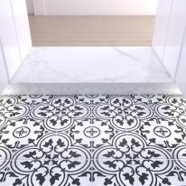 200x200 부티크 화이트 - 현관 욕실 베란다 발코니 셀프 타일 인테리어