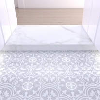200x200 부티크 그레이 낱장판매 - 현관 욕실 베란다 발코니 셀프 타일 인테리어