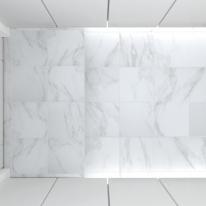 300x300 비앙코 카라라 대리석 타일 - 현관 욕실 베란다 발코니 셀프 타일 인테리어