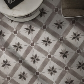 200x200 이엘로 북유럽 패턴타일 - 현관 욕실 베란다 발코니 셀프 타일 인테리어