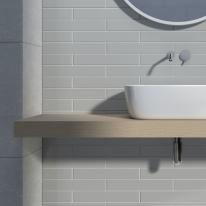 65x400 벽타일 메노르카 라이트 그레이 - 현관 욕실 베란다 발코니 셀프 타일 인테리어