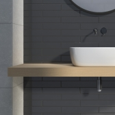 65x400 벽타일 메노르카 블랙 - 현관 욕실 베란다 발코니 셀프 타일 인테리어