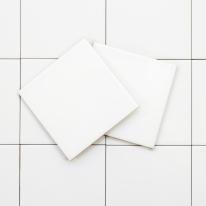 100x100 베이직 화이트 낱장판매 - 현관 욕실 베란다 발코니 셀프 타일 인테리어