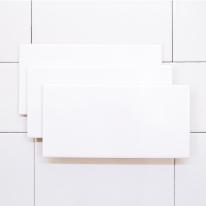100x200 베이직 화이트 낱장판매 - 현관 욕실 베란다 발코니 셀프 타일 인테리어