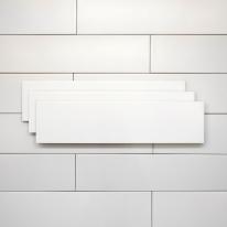 60x240 베이직 화이트 낱장판매 - 현관 욕실 베란다 발코니 셀프 타일 인테리어