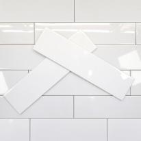 75x300 베이직 화이트 낱장판매 - 현관 욕실 베란다 발코니 셀프 타일 인테리어