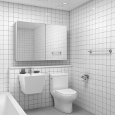 300x600 체크블럭 벽타일  - 현관 욕실 베란다 발코니 셀프 타일 인테리어