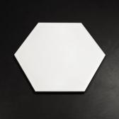 200x230 육각 베이직 화이트 낱장판매 - 현관 욕실 베란다 발코니 셀프 타일 인테리어