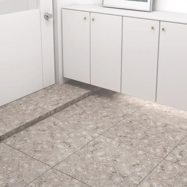 600x600 슬라네 테라조 타일 포세린 웜그레이 - 현관 욕실 베란다 발코니 셀프 타일 인테리어