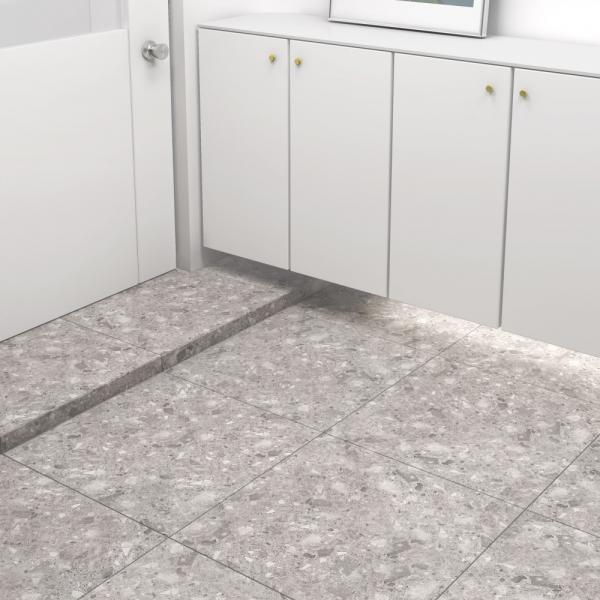 600x600 슬라네 테라조 타일 포세린 그레이 - 현관 욕실 베란다 발코니 셀프 타일 인테리어