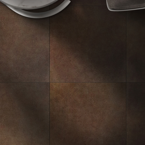 600x600 탈렌 브라운 테라조 타일 포세린  - 현관 욕실 베란다 발코니 셀프 타일 인테리어