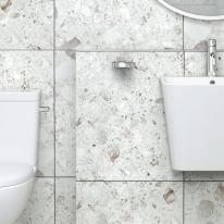 600x600 버클러 테라조 타일 포세린 유광/무광  - 현관 욕실 베란다 발코니 셀프 타일 인테리어