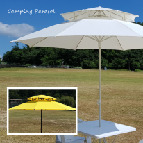 캠핑용 파라솔 (국내제작) / 대양 파라솔 국산 2단 8각 파라솔세트 야외테이블 회전의자