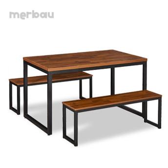 디럭스 식탁 테이블 멀바우식탁 대형식탁 멀바우 벤치 식탁세트 1200/1600/1800