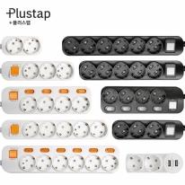 플러스탭 멀티탭 디자인 멀티콘센트 1구 2구 3구 4구 5구 6구 USB 고용량 국산 T자형 접지 개별 통합 안전