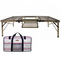 아이언메쉬 2in1 BBQ 캠핑테이블