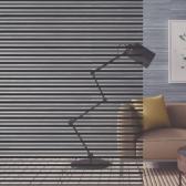 포인트 창문시트지 유리필름 블랙 블라인드 FD026