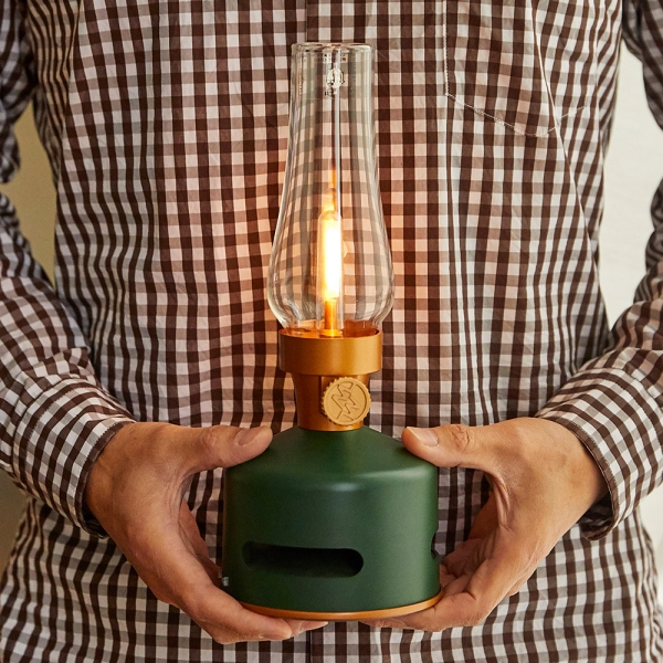 [모리모리] 따뜻한 감성을 담은 캠핑, 인테리어 겸용 블루투스 LED 랜턴 스피커 3종 택1