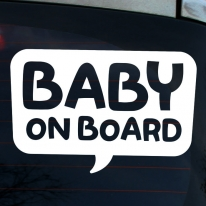 타이포 말풍선 BABY ON BOARD